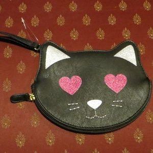 Betsey Johnson Kitty Cat Purse / Wristlett NWOT